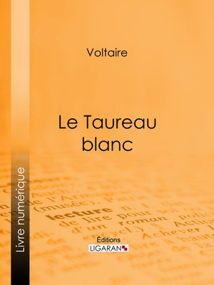 cover image of Le Taureau blanc