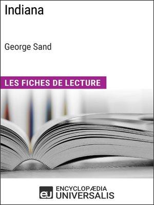 cover image of Indiana de George Sand (Les Fiches de Lecture d'Universalis)
