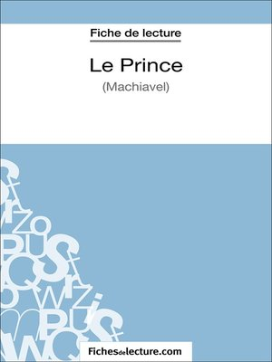 cover image of Le Prince de Machiavel (Fiche de lecture)