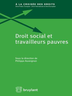 cover image of Droit social et travailleurs pauvres