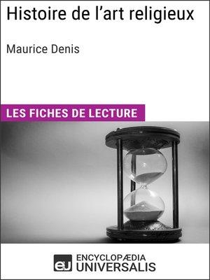 cover image of Histoire de l'art religieux de Maurice Denis