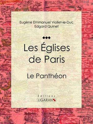 cover image of Les Eglises de Paris