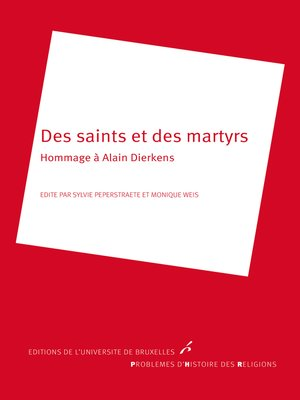 cover image of Des saints et des martyrs