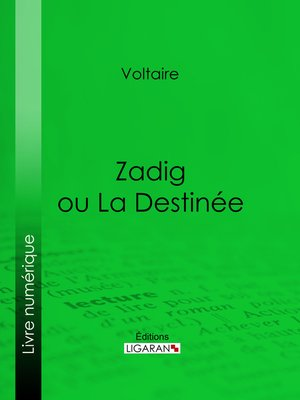 cover image of Zadig ou La Destinée