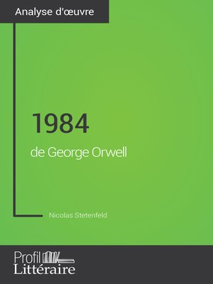 cover image of 1984 de George Orwell (Analyse approfondie)