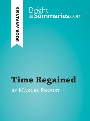 cover image of Time Regained by Marcel Proust (Book Analysis)