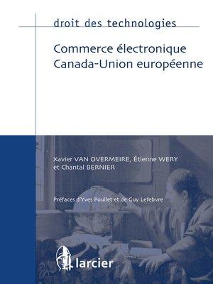 cover image of Commerce électronique Canada-Union européenne