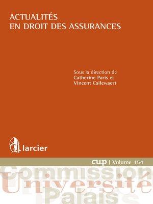 cover image of Actualités en droit des assurances