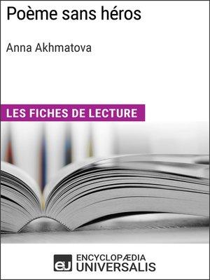 cover image of Poème sans héros d'Anna Akhmatova