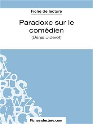 cover image of Paradoxe sur le comédien