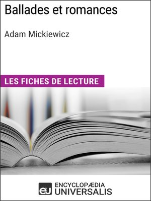 cover image of Ballades et romances d'Adam Mickiewicz