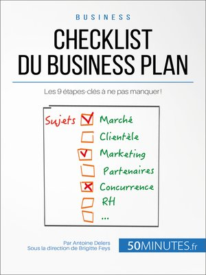 cover image of Checklist du business plan