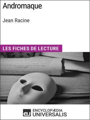 cover image of Andromaque de Jean Racine