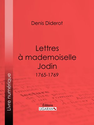 cover image of Lettres à Mademoiselle Jodin