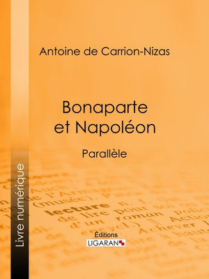 cover image of Bonaparte et Napoléon