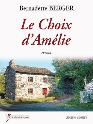 cover image of Le Choix d'Amélie