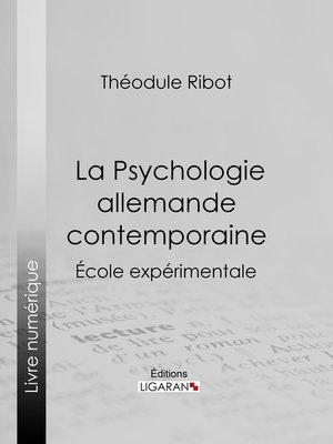cover image of La Psychologie allemande contemporaine