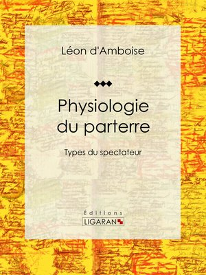 cover image of Physiologie du parterre