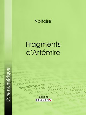 cover image of Fragments d'Artémire