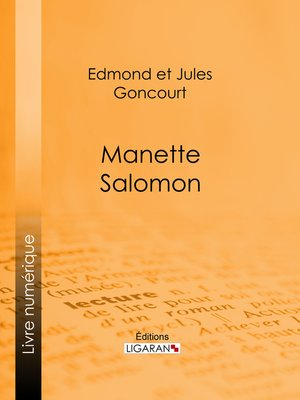 cover image of Manette Salomon