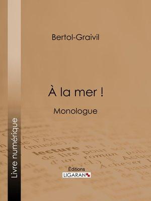 cover image of A la mer !
