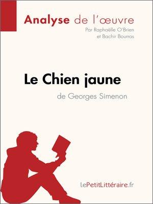 cover image of Le Chien jaune de Simenon (Fiche de lecture)