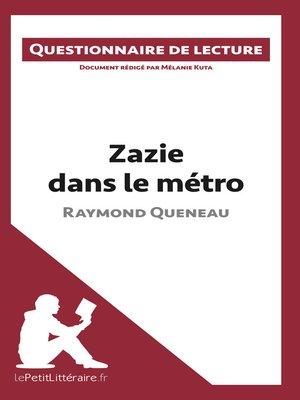 cover image of Zazie dans le métro de Raymond Queneau