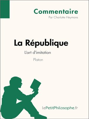 cover image of La République de Platon--L'art d'imitation (Commentaire)