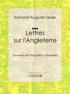 cover image of Lettres sur l'Angleterre