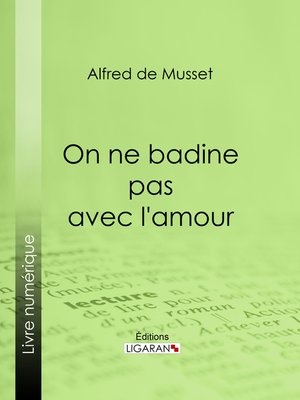 cover image of On ne badine pas avec l'amour
