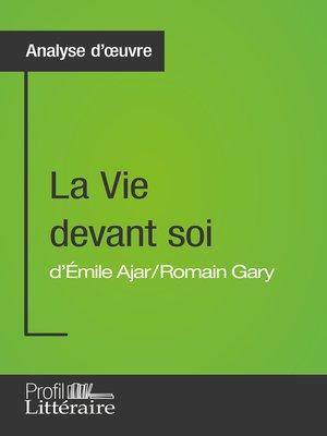 cover image of La Vie devant soi de Romain Gary (Analyse approfondie)