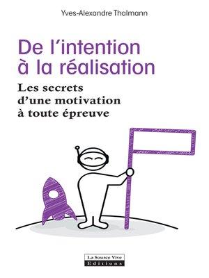 cover image of De l'intention à la réalisation