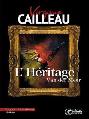 cover image of L'Héritage Van der Meer