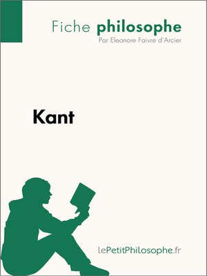 cover image of Kant--Fiche philosophe