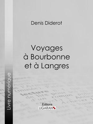 cover image of Voyages à Bourbonne et à Langres