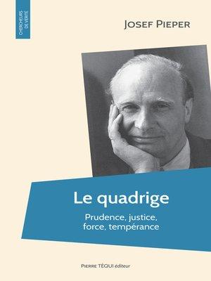 cover image of Le quadrige