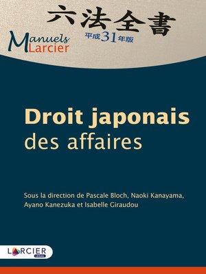 cover image of Droit japonais des affaires