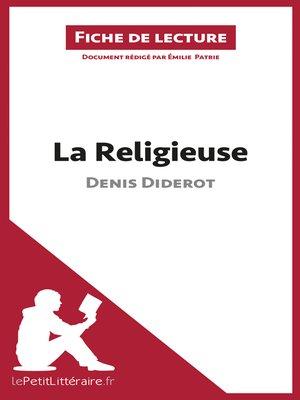 cover image of La Religieuse de Denis Diderot (Fiche de lecture)