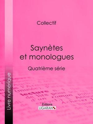 cover image of Saynètes et monologues