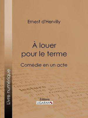 cover image of À louer pour le terme