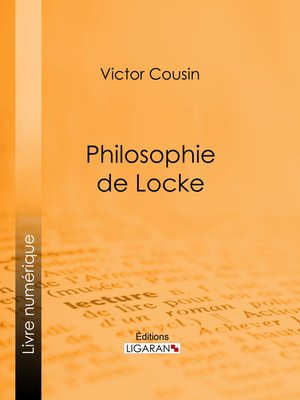 cover image of Philosophie de Locke