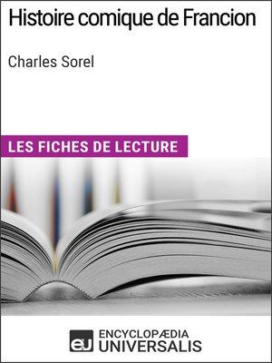 cover image of Histoire comique de Francion de Charles Sorel