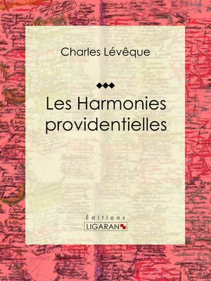 cover image of Les harmonies providentielles