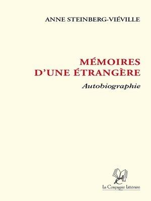 cover image of Mémoires d'une étrangère