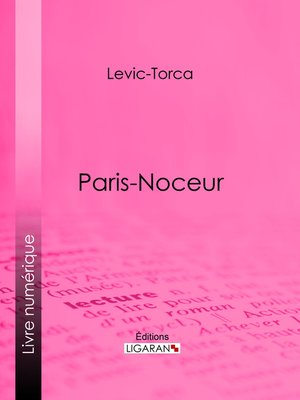 cover image of Paris-noceur