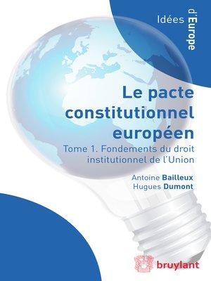 cover image of Droit institutionnel de l'Union européenne