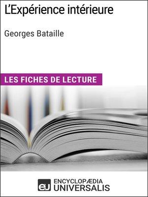 cover image of L'Expérience intérieure de Georges Bataille