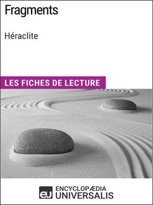 cover image of Fragments de Héraclite