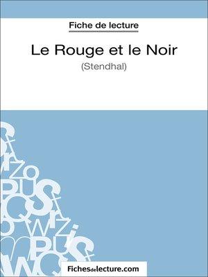 cover image of Le Rouge et le Noir de Stendhal (Fiche de lecture)