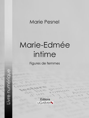 cover image of Marie-Edmée intime